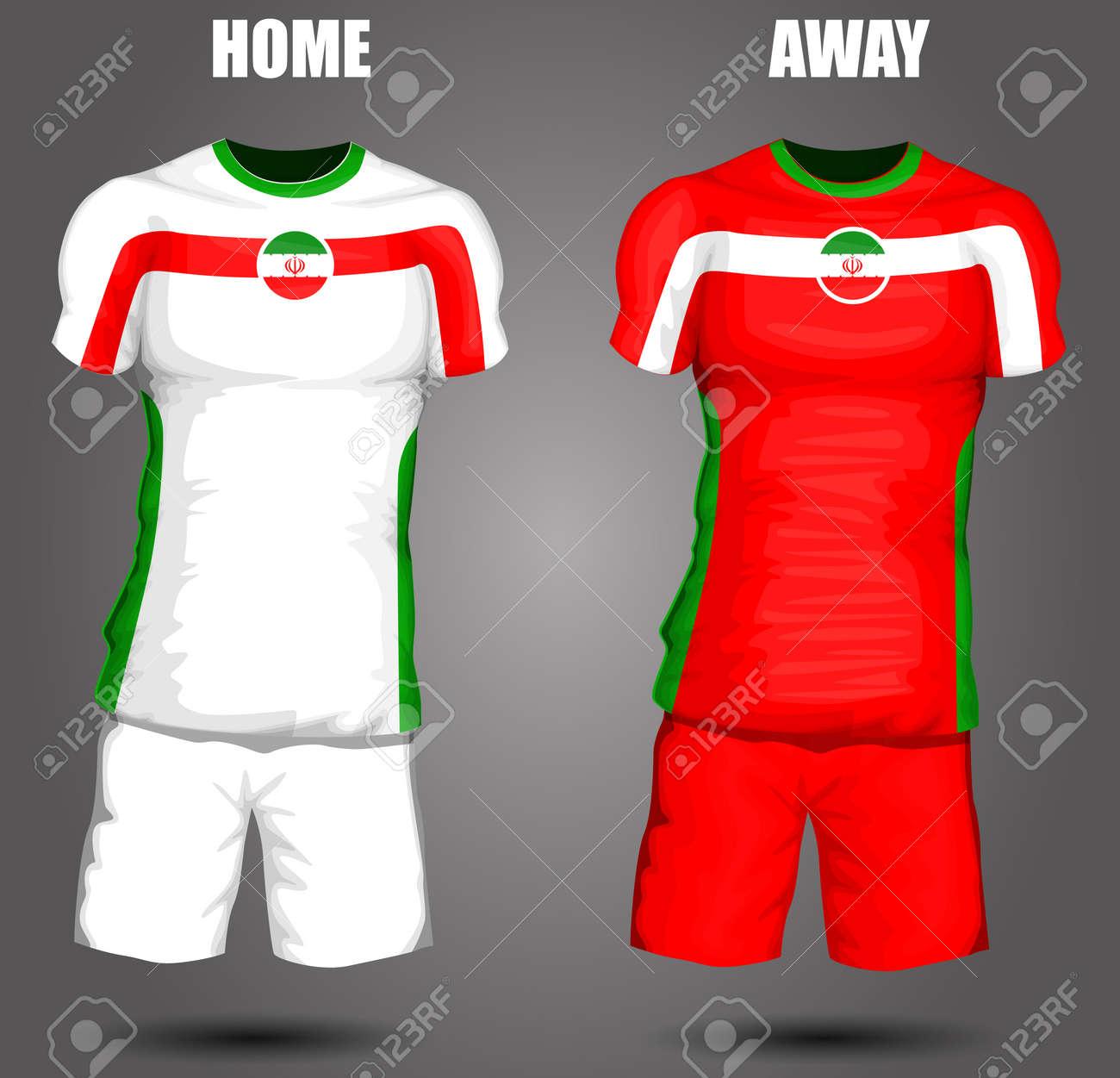 a347b8895 Iran soccer jersey Stock Vector - 28036610