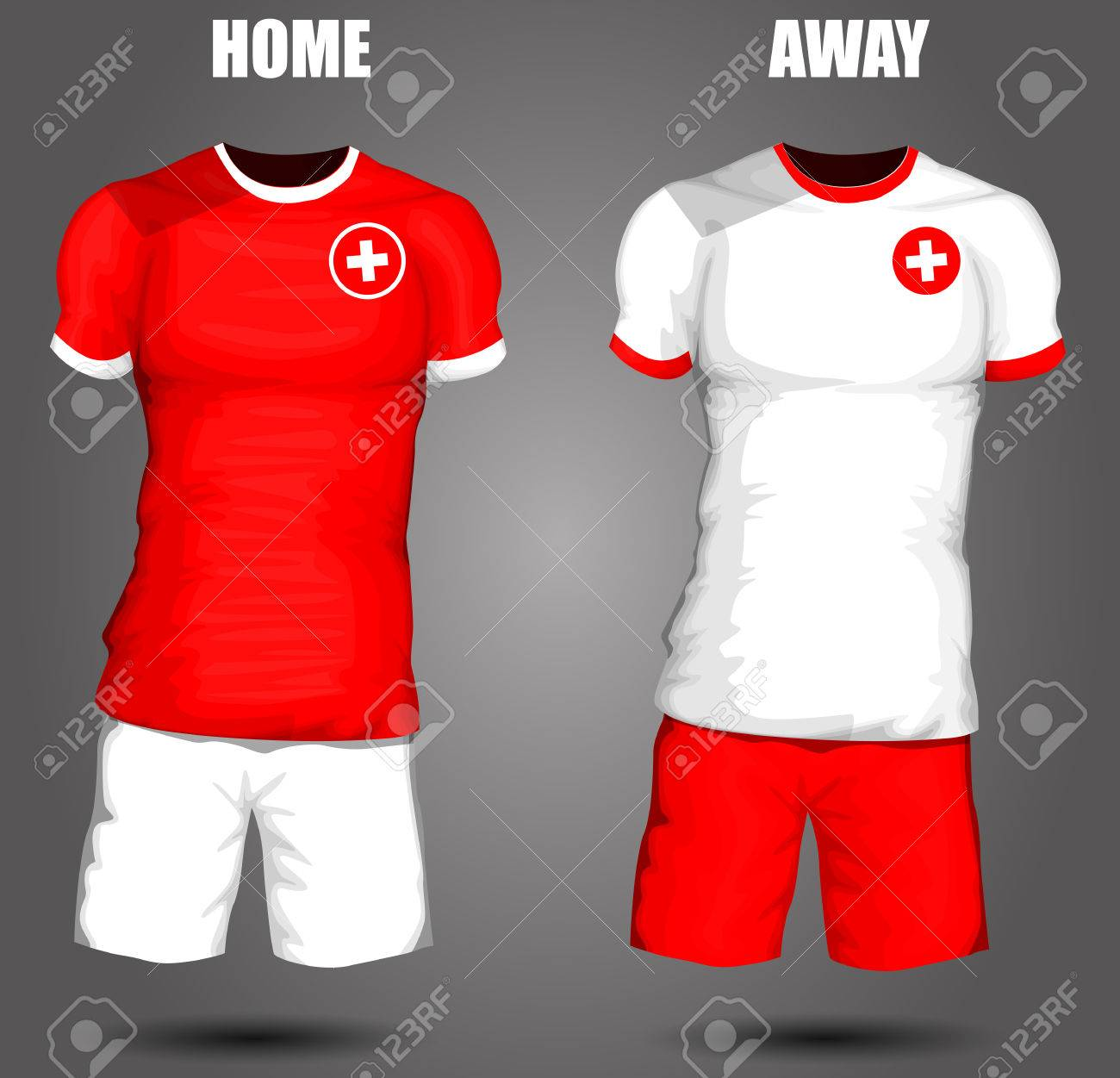 d59eb4dae Switzerland soccer jersey Stock Vector - 28036619