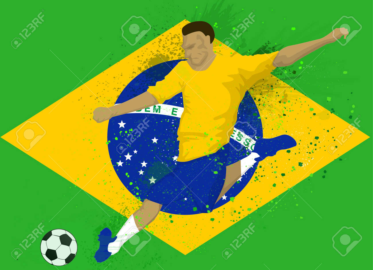 e9b8cb526 Brazil soccer player Stock Vector - 28910187