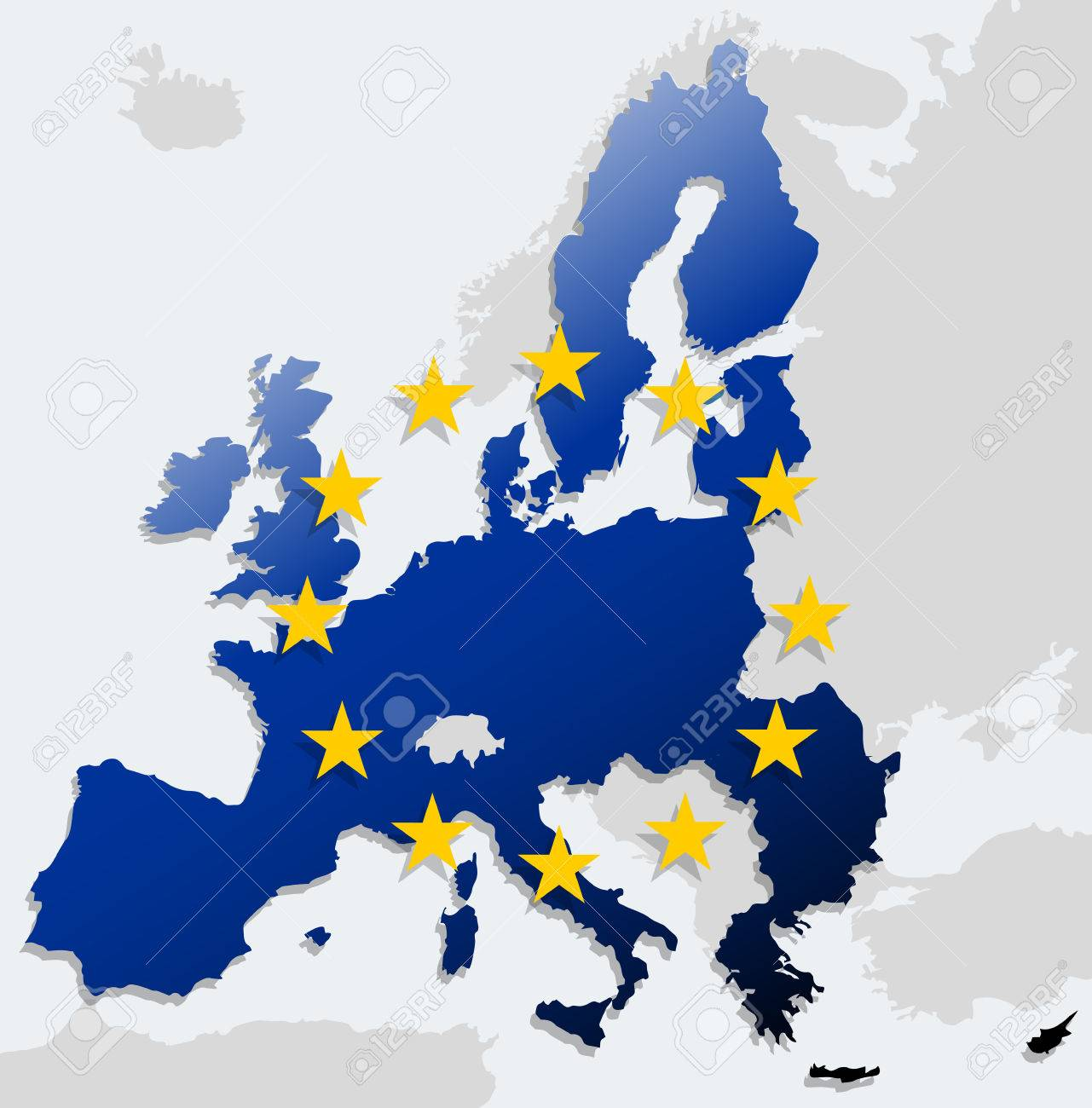 European Union Map Royalty Free Cliparts, Vectors, And Stock ...