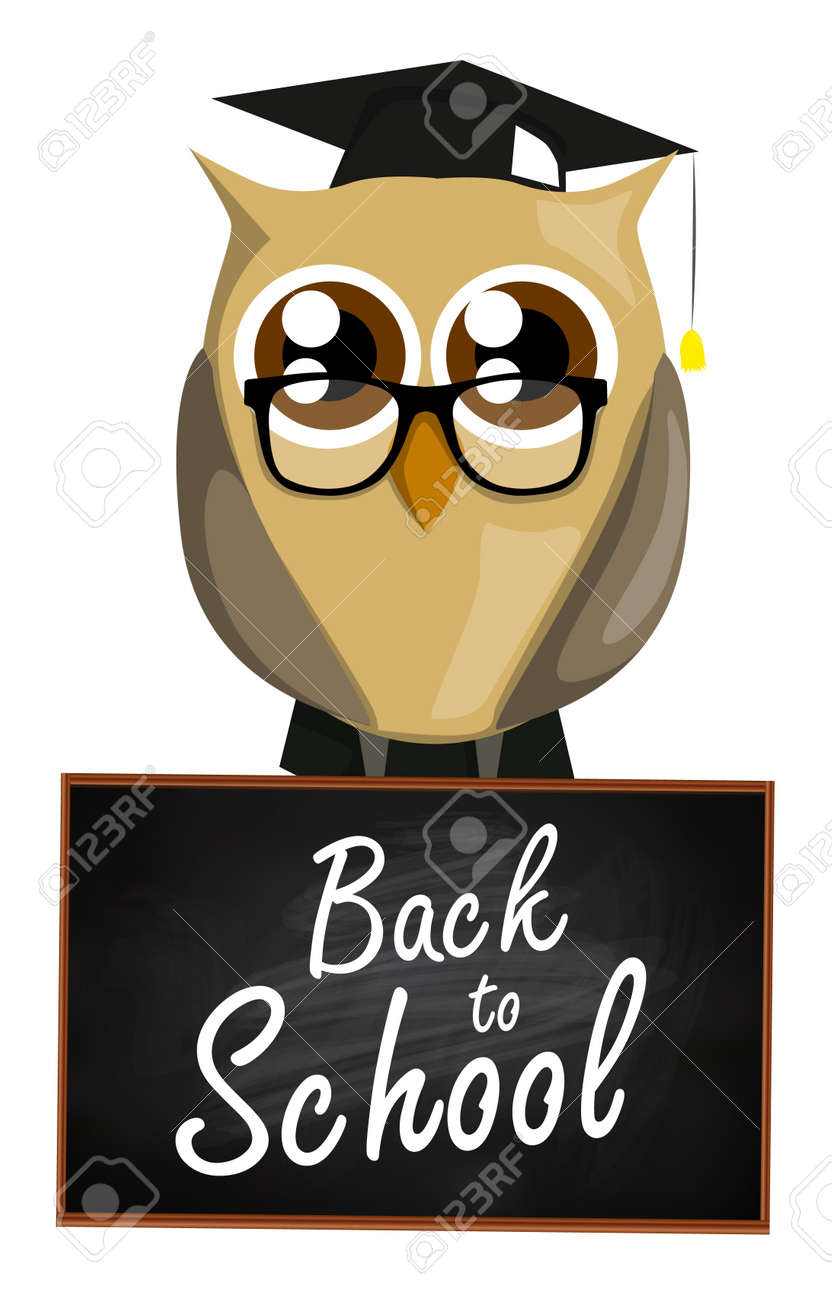 back to school owl royalty free cliparts, vectors, and stock