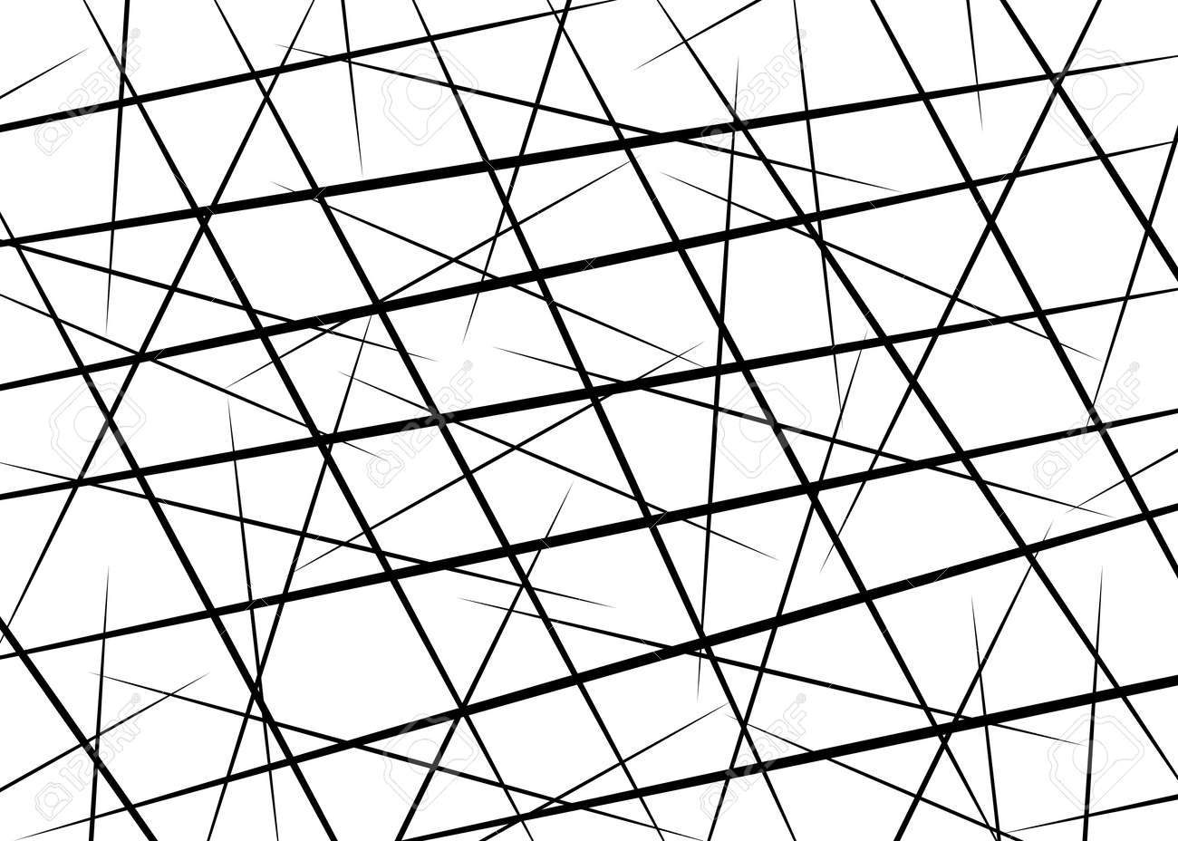 Random Chaotic Lines Scattered Lines Random Chaotic Lines Asymmetrical