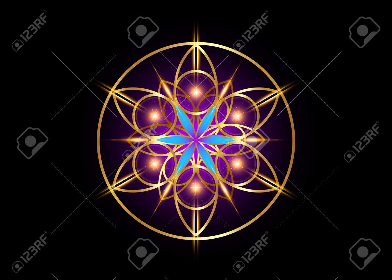 Flower of Life symbol Sacred Geometry. - 171839349