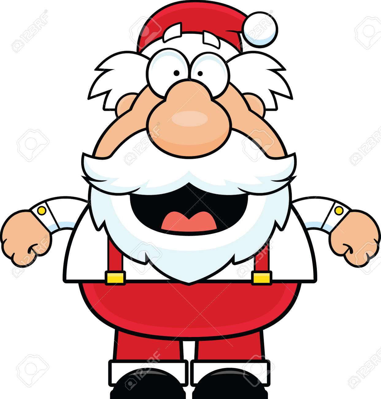笑顔サンタ クロースのイラストを漫画します。 ロイヤリティフリー