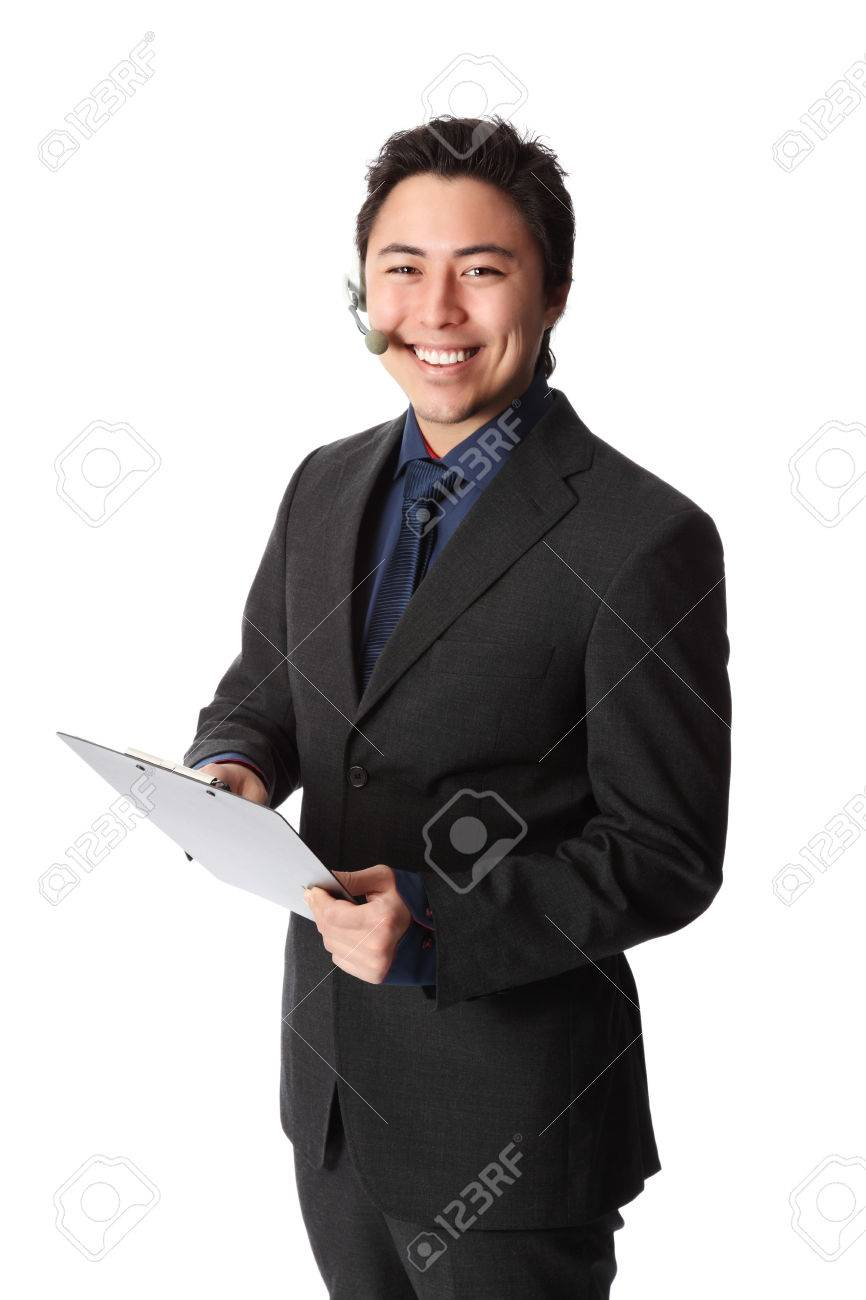 Ernste Geschäftsmann Trägt Ein Blaues Hemd Und Grauen Anzug Die