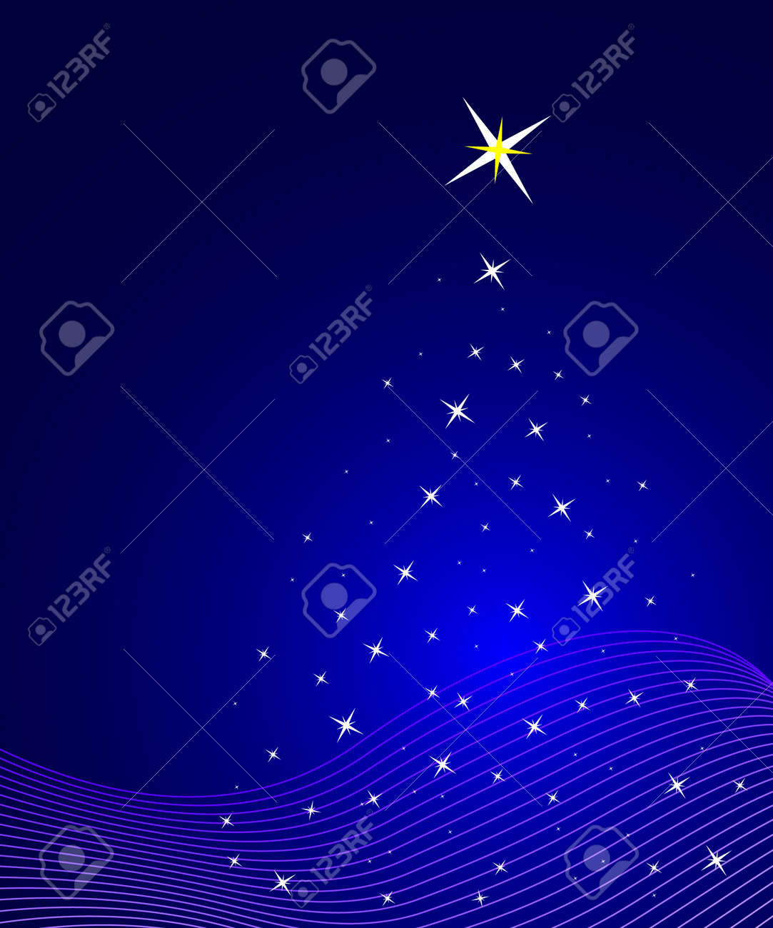 Blue christmas background Stock Vector - 2652282