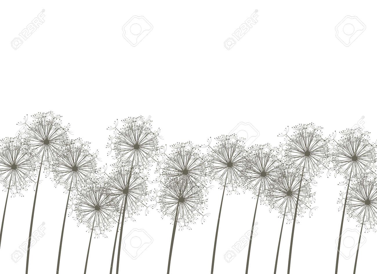 Dandelions, vector illustration Stock Vector - 4381633