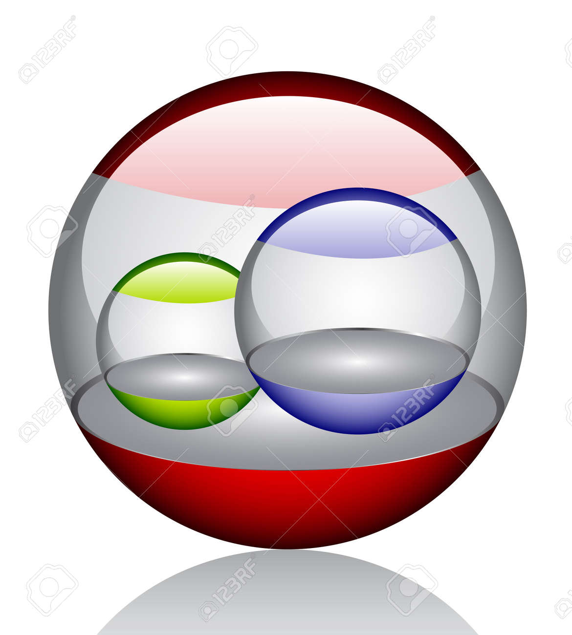 3d glossy orb Stock Vector - 6833162