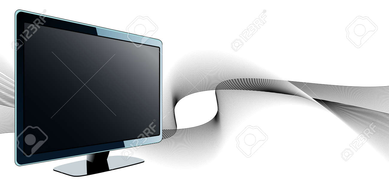 TV with waves Stock Vector - 6833144