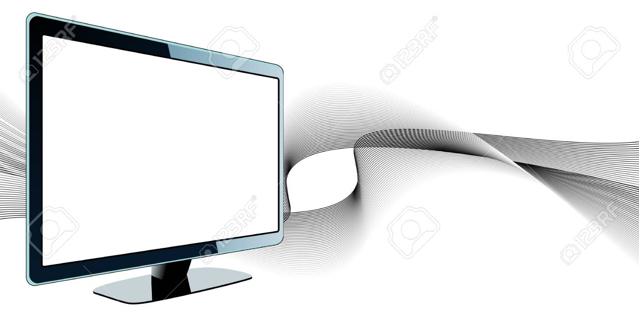 TV with waves Stock Vector - 6833140