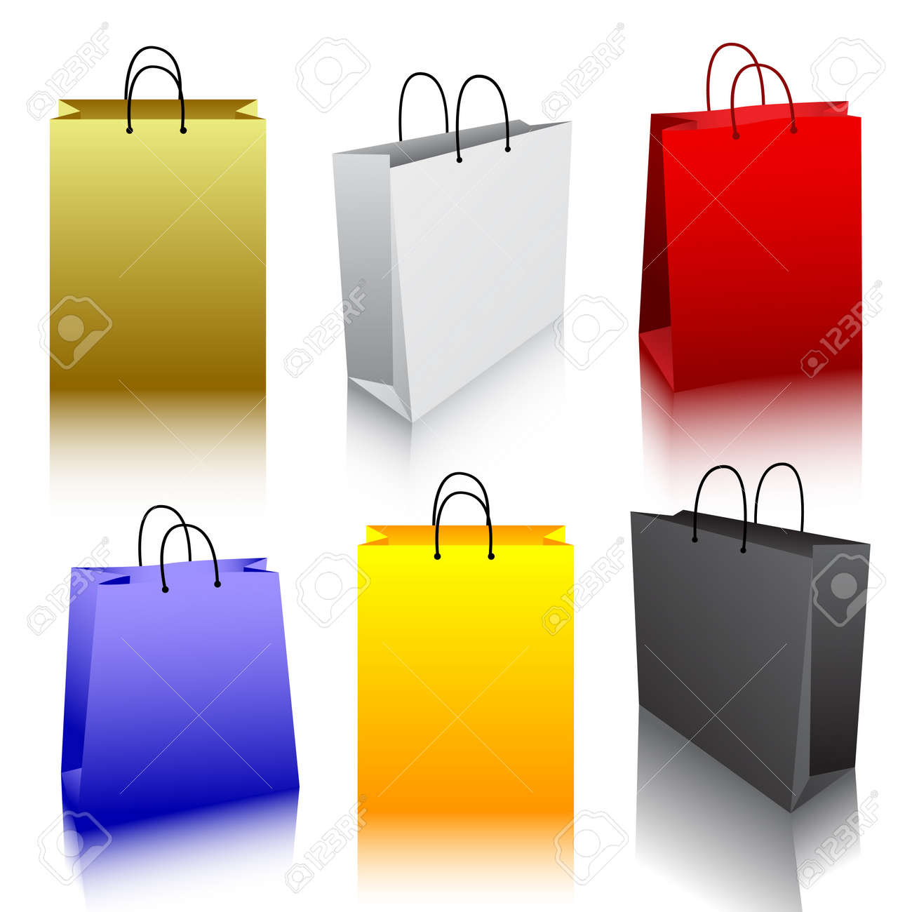 Shopping bag collection Stock Vector - 7099955