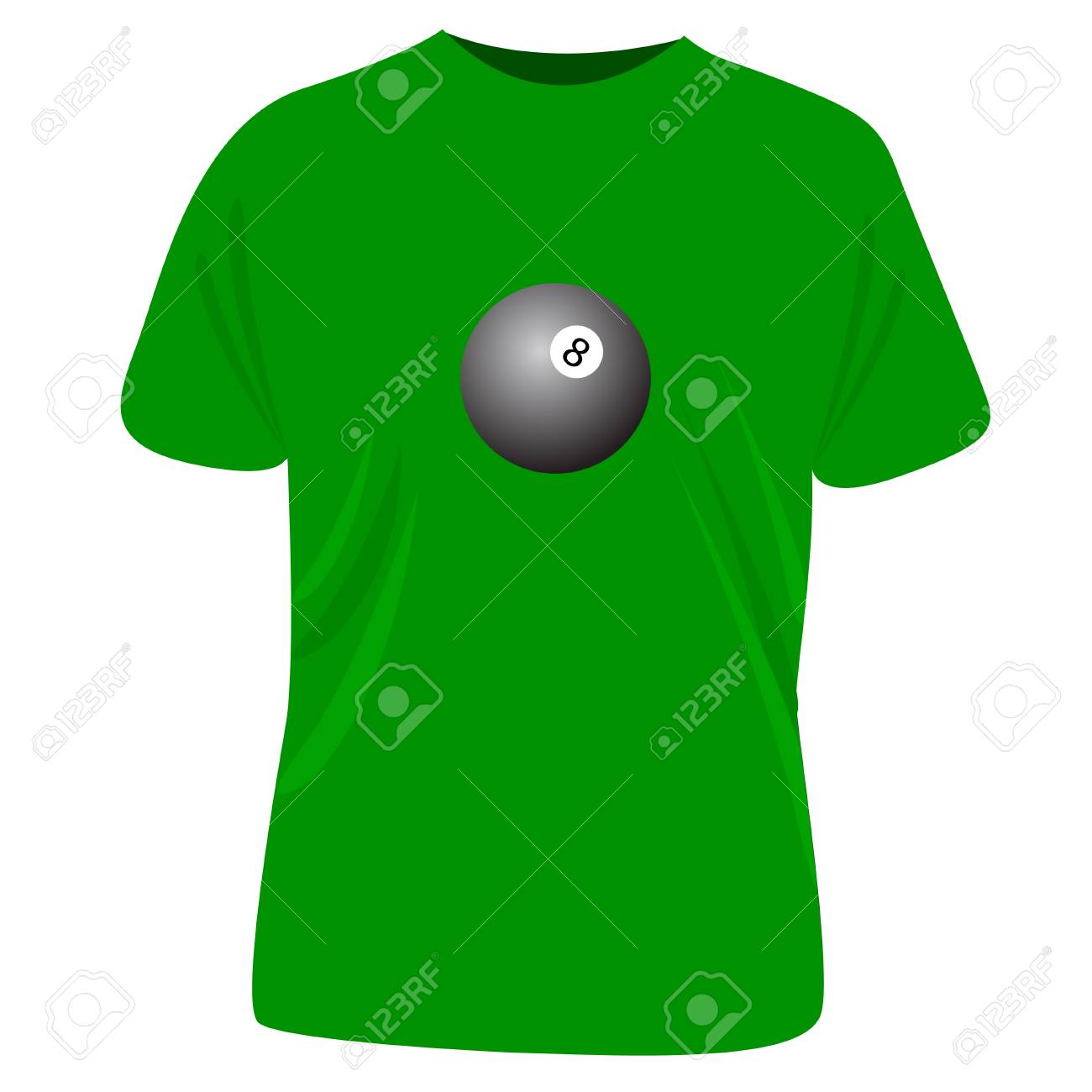 Pool t-shirt Stock Vector - 7233052