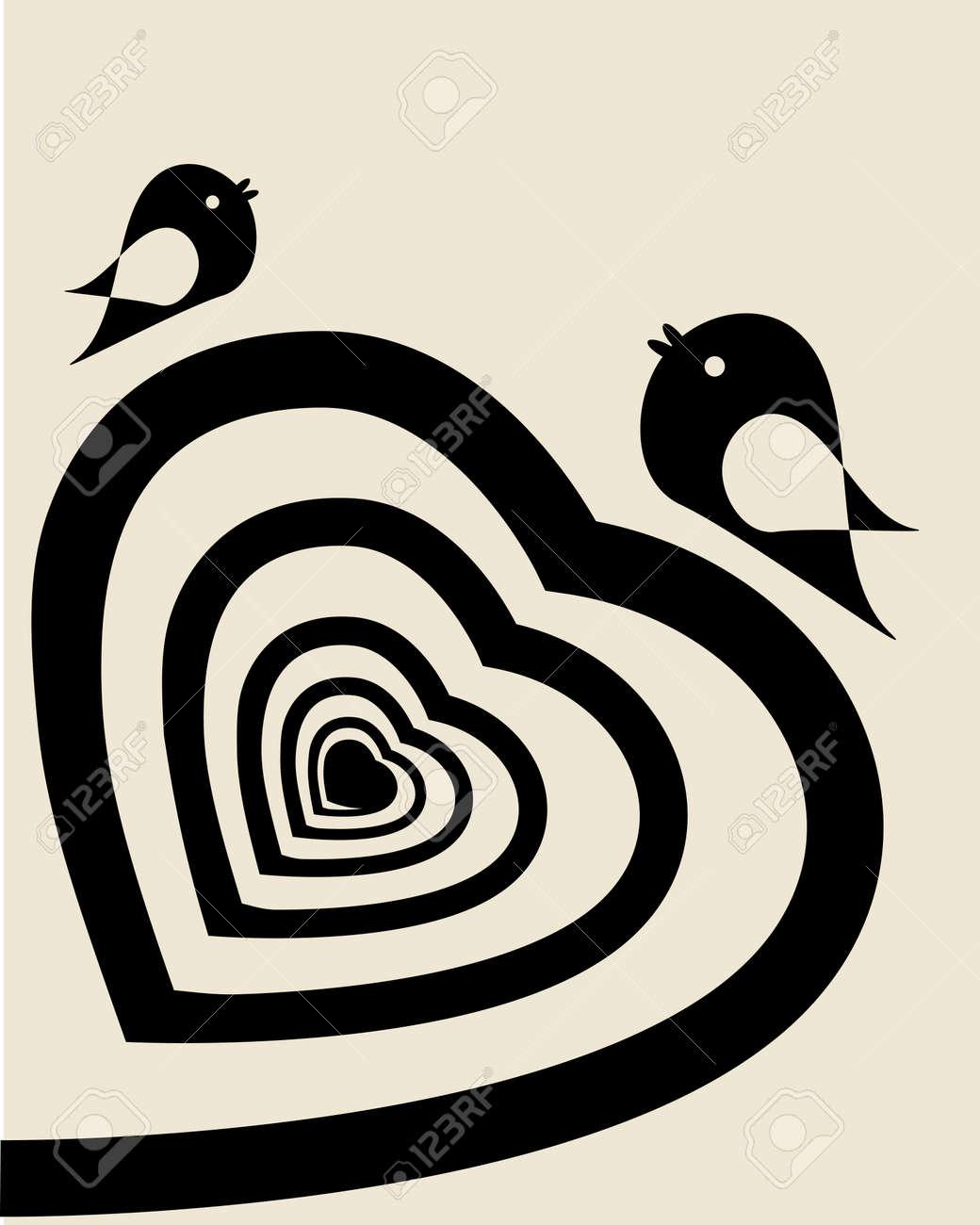 Abstract spiral heart Stock Vector - 8767058