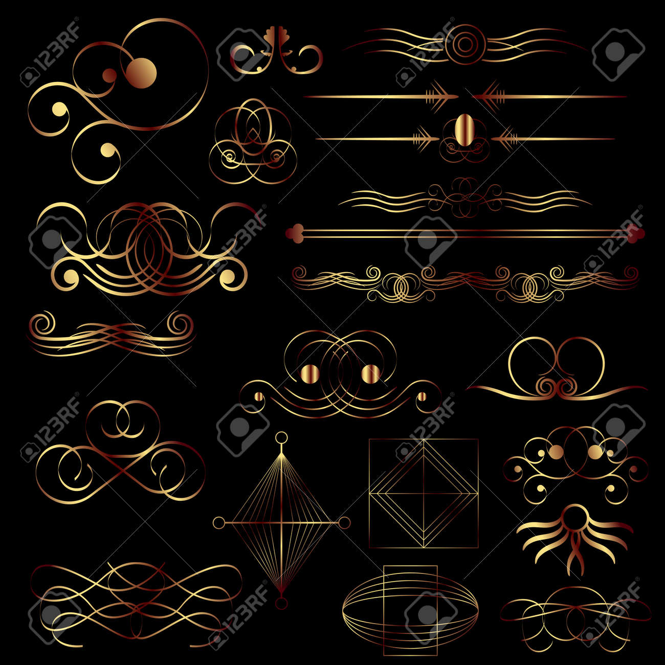 Calligraphic design elements Stock Vector - 8767073
