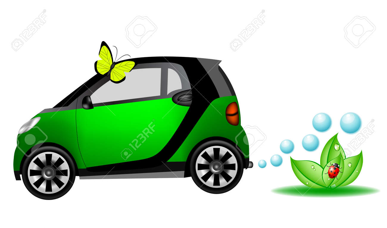 Beautiful eco car Stock Vector - 8767658