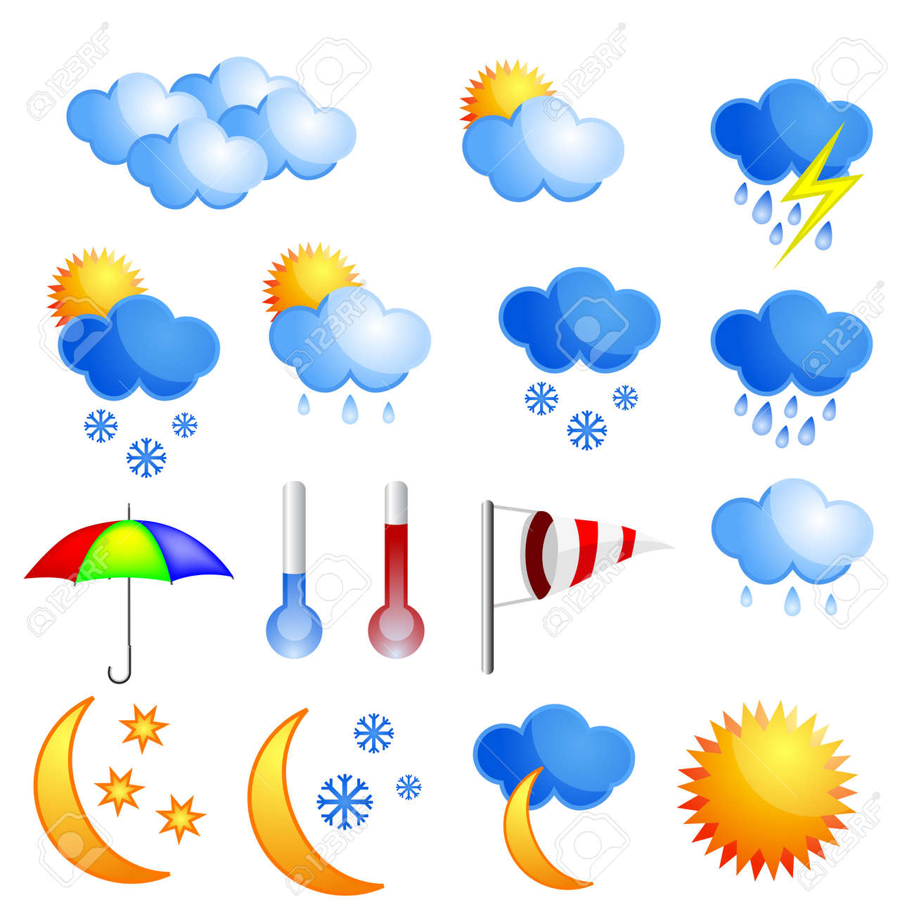 Weather icon set Stock Vector - 8779378