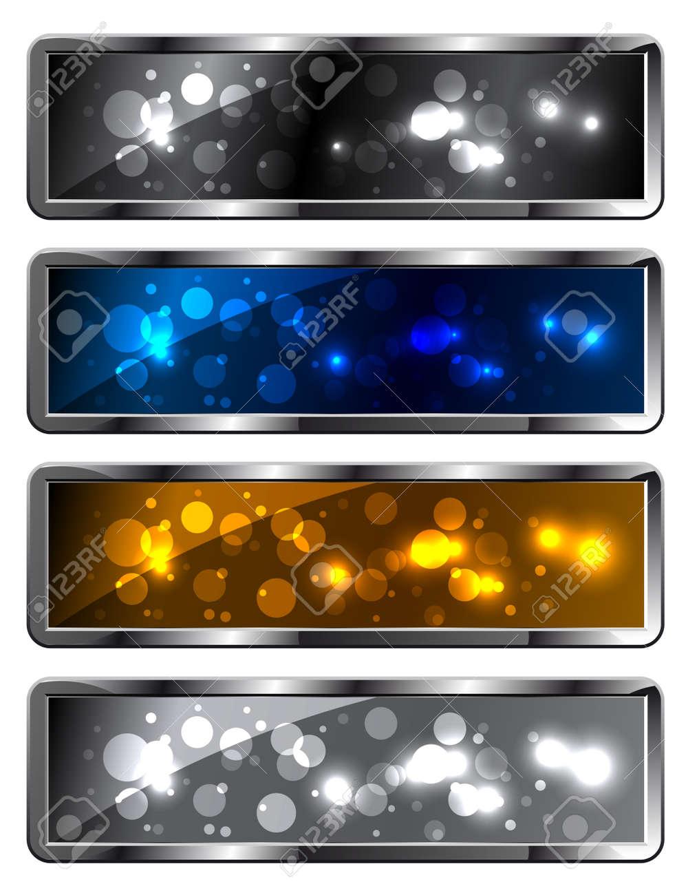Modern metal sparkling festive backgrounds - frames Stock Vector - 10040297