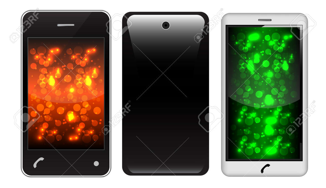 touch Screen Phone With Colorful Screen Stock Vector - 10281752