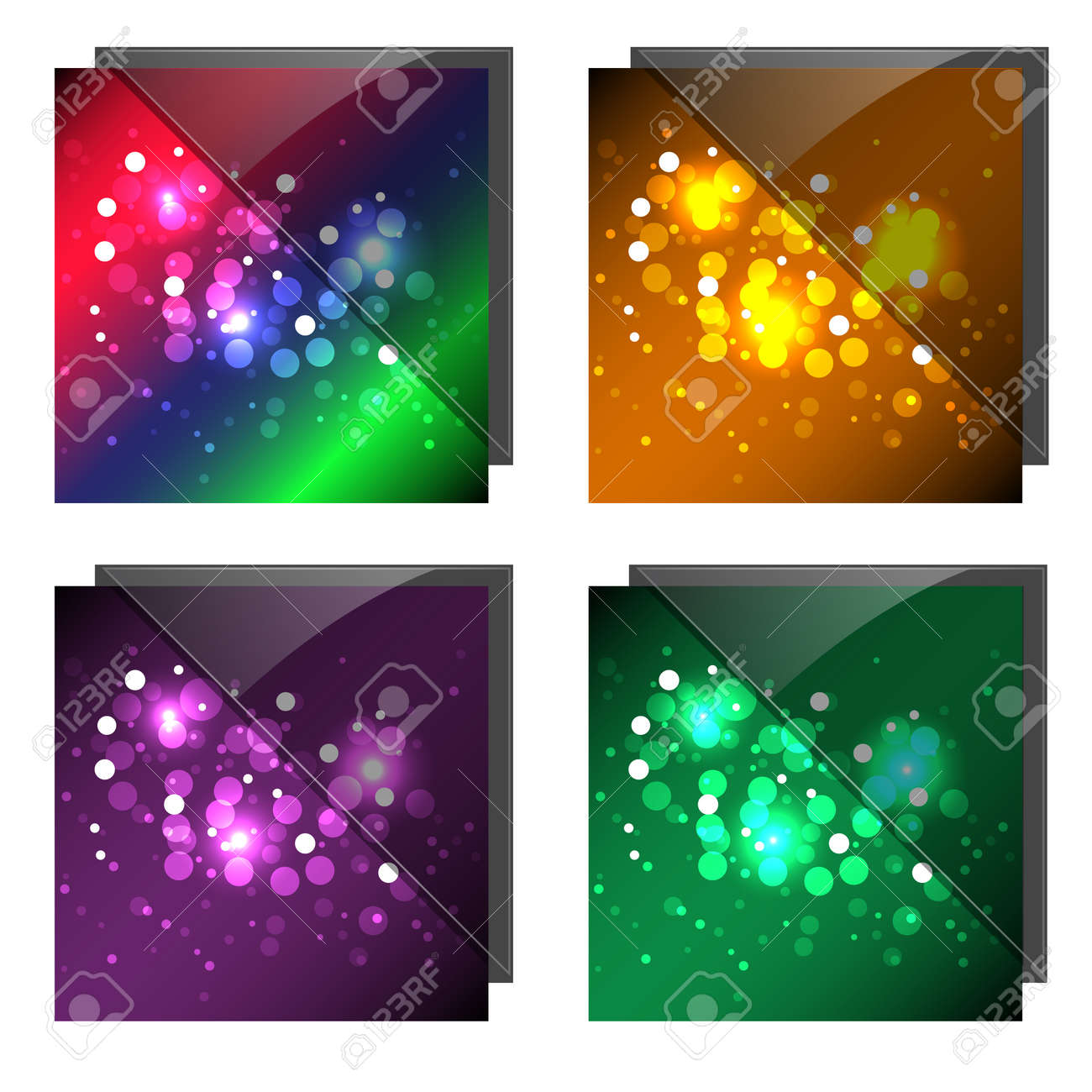 Sparkling Colorful Backgrounds With Glass Stock Vector - 10310355