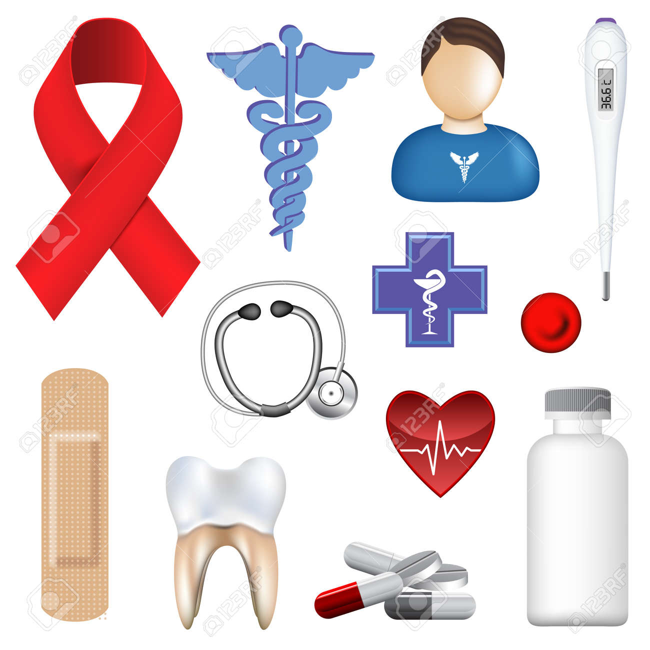 Vector Medical Object Collection Stock Vector - 10515084
