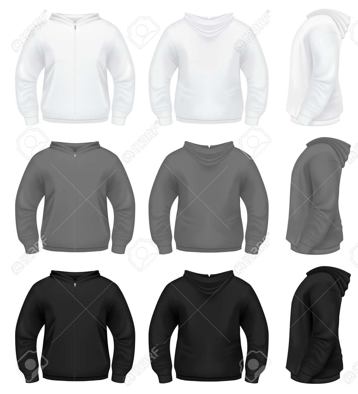 Pullover hoodie template fashion design templates vector black pullover hoodie template 8508 bitnote pronofoot35fo Image collections