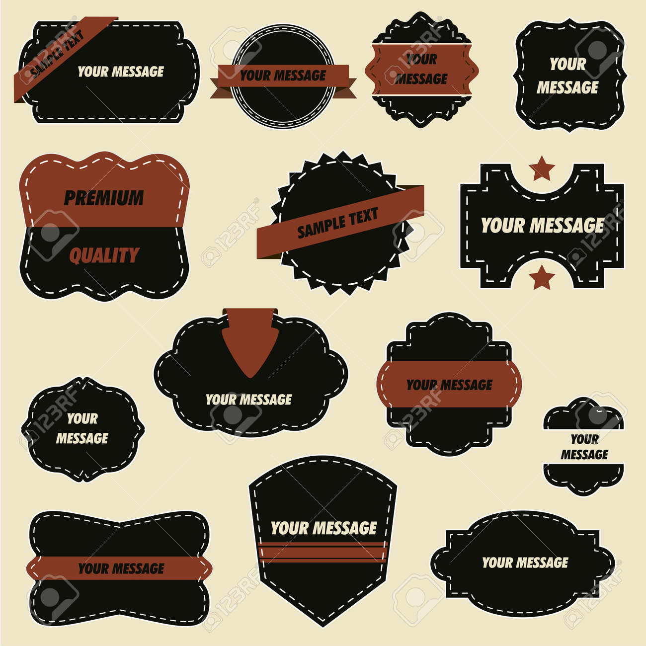 ornate retro labels and vintage elegant stickers royalty free