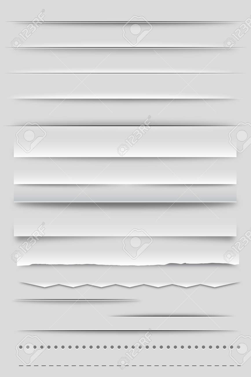 Web Dividers and Shadows Stock Vector - 14754010