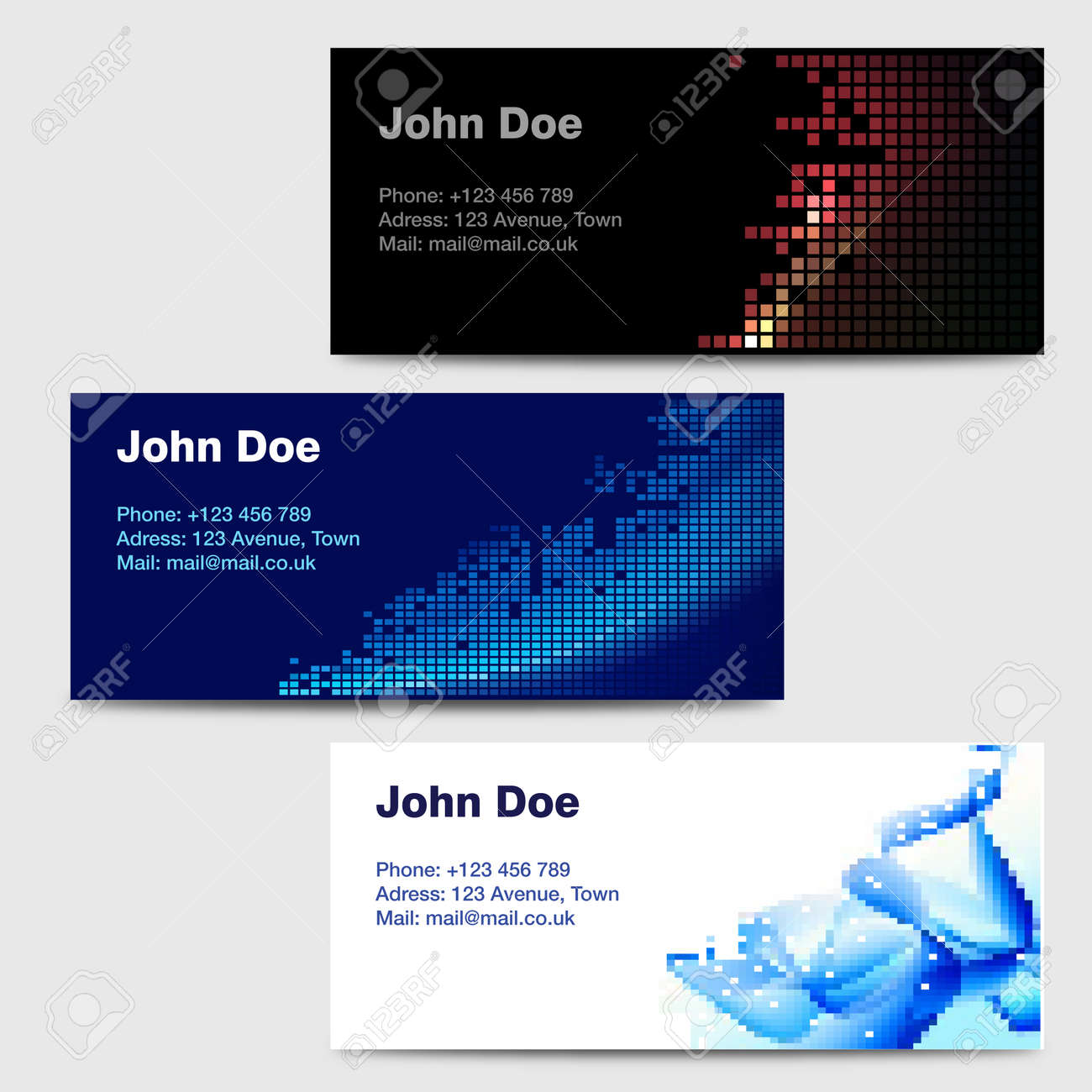 Business Card Templates Stock Vector - 14754004