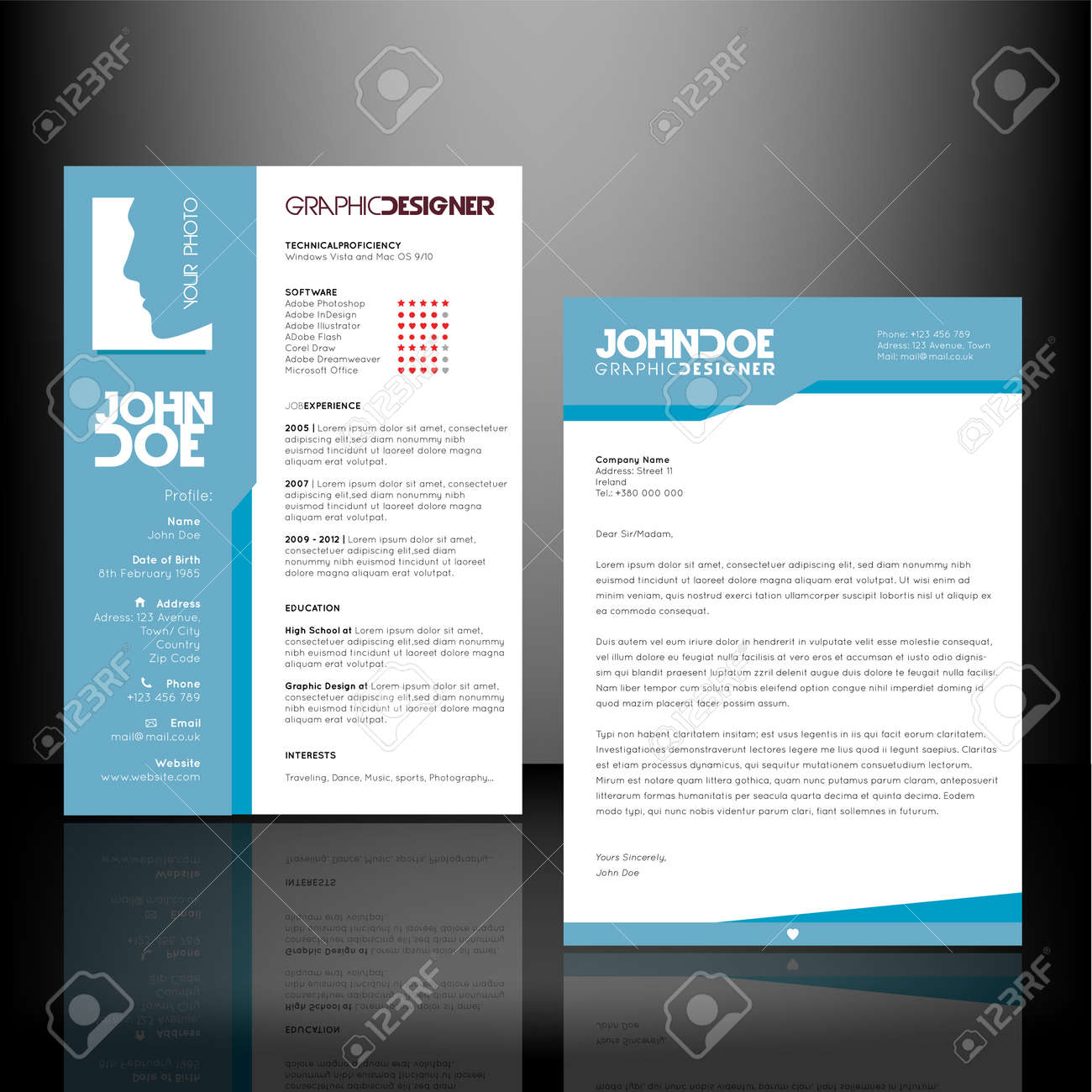 Resume And Cv Templates Royalty Free Cliparts Vectors And Stock