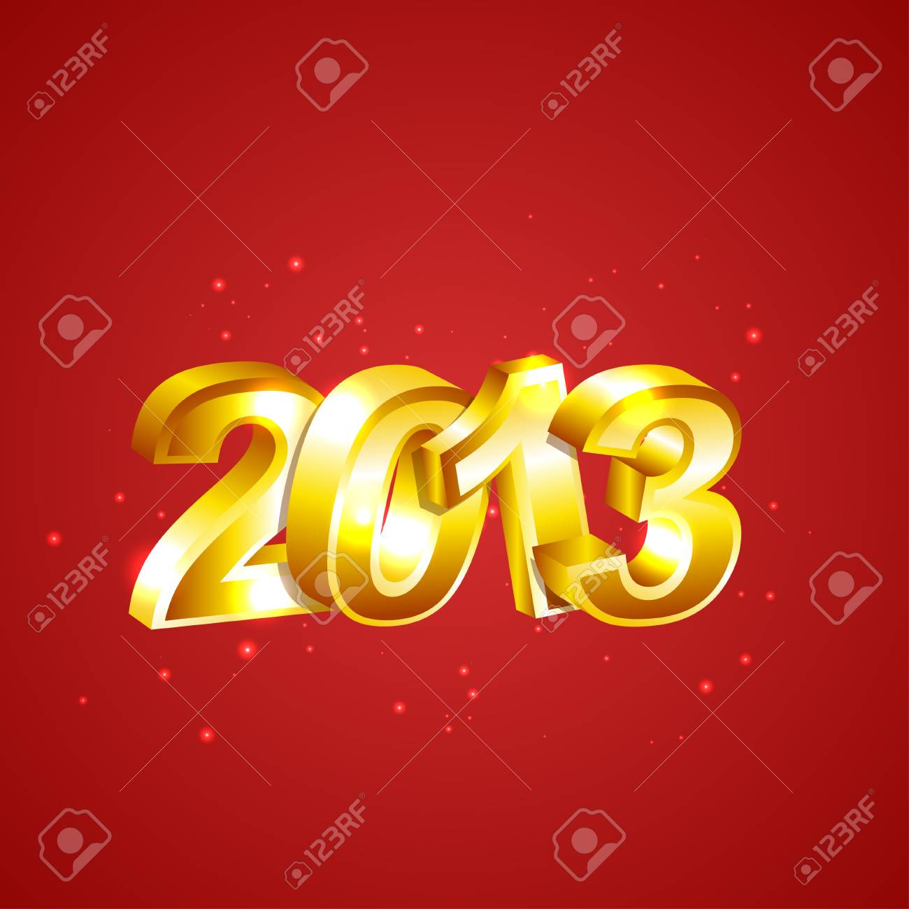 New 2013 Year Numbers Stock Vector - 16364664