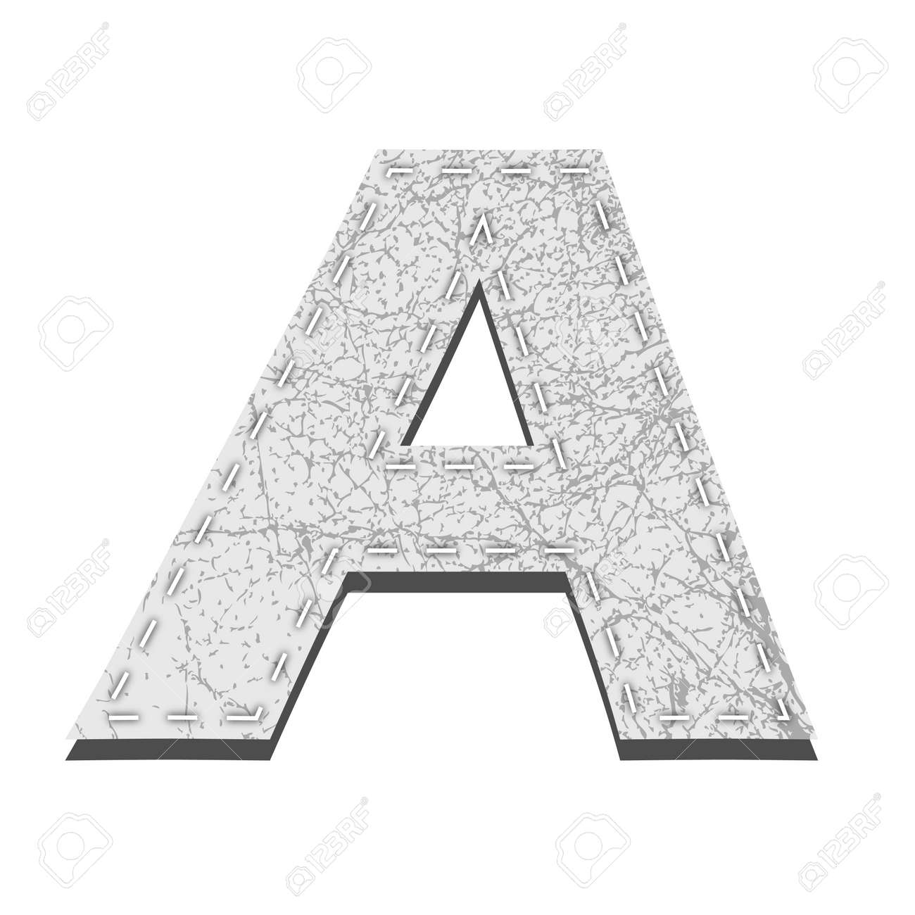 Leather White Textured Letter A Stock Vector - 19146332