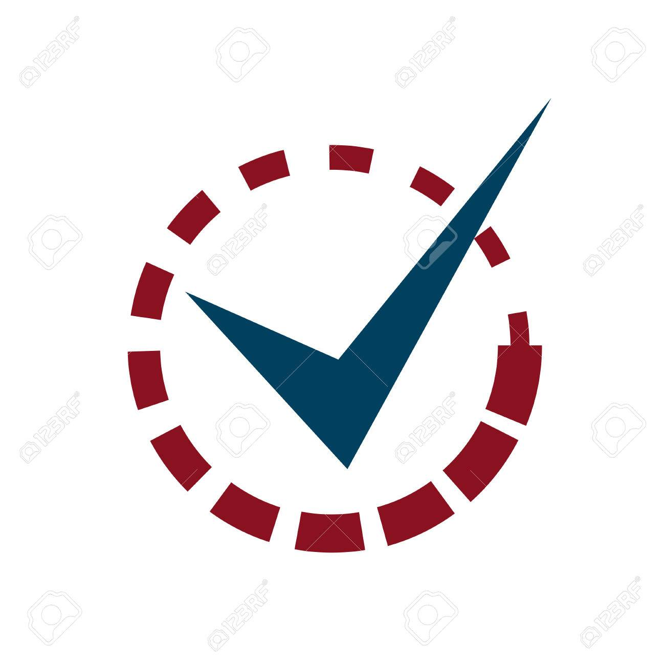 Tick Mark with Loading Sign Stock Vector - 23165762
