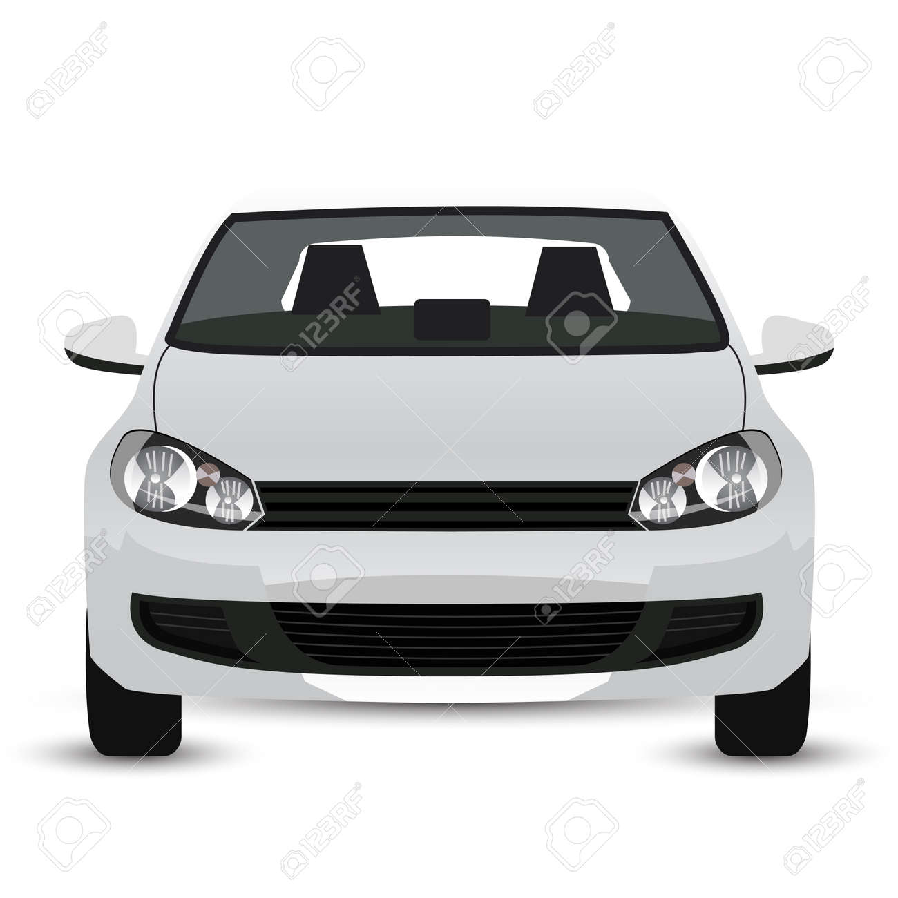White Car - Front View Royalty Free Cliparts, Vectors, And Stock ...