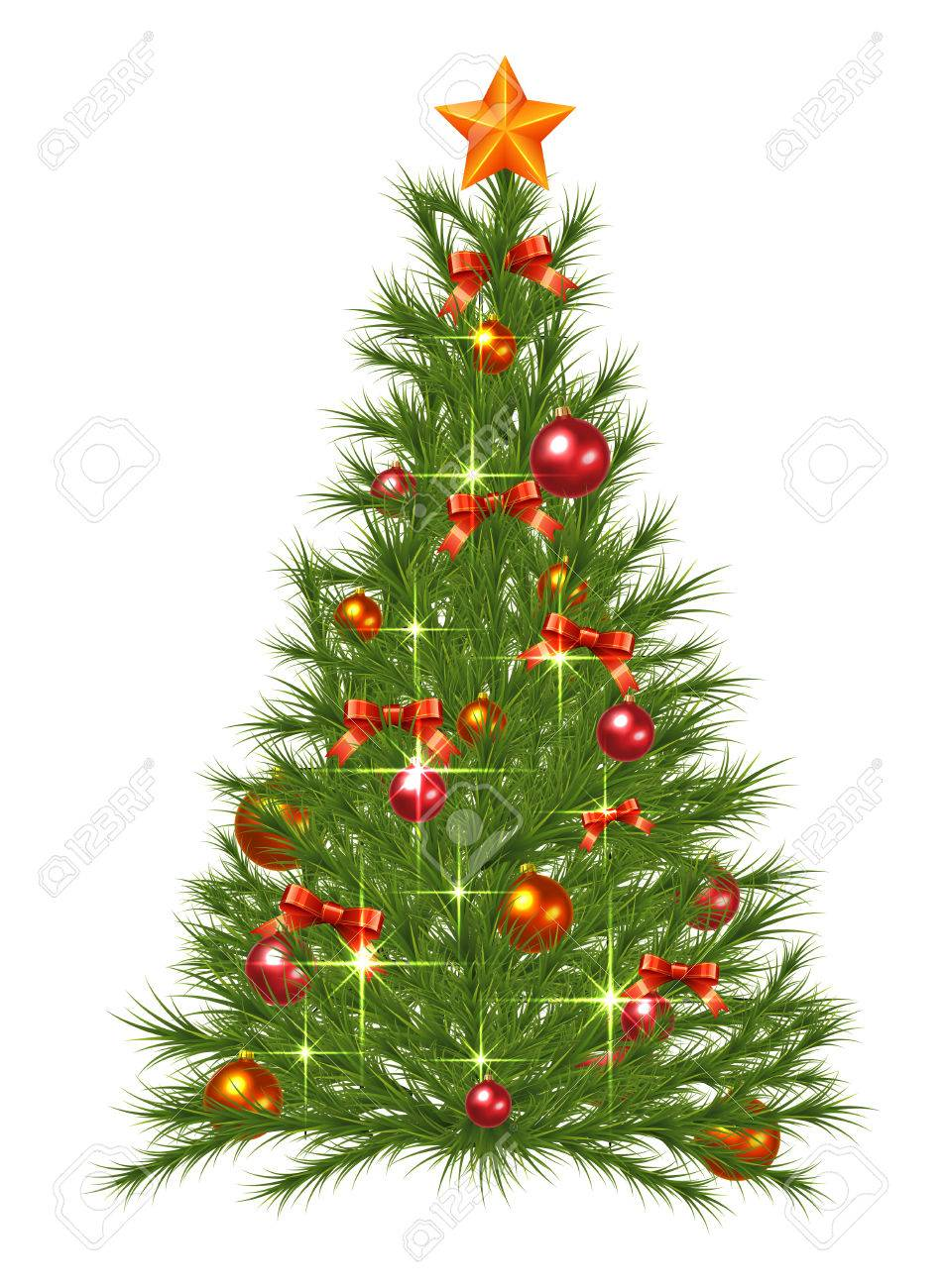 Decorated Christmas Fir Tree Royalty Free Cliparts Vectors And Stock Illustration Image 23893911