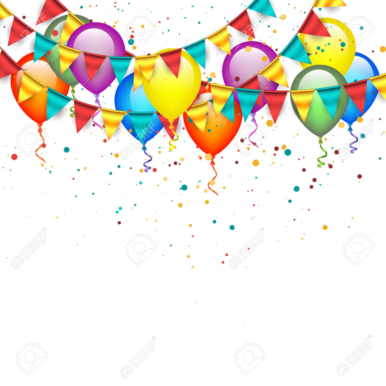 Balloons with Garlands - 43577396