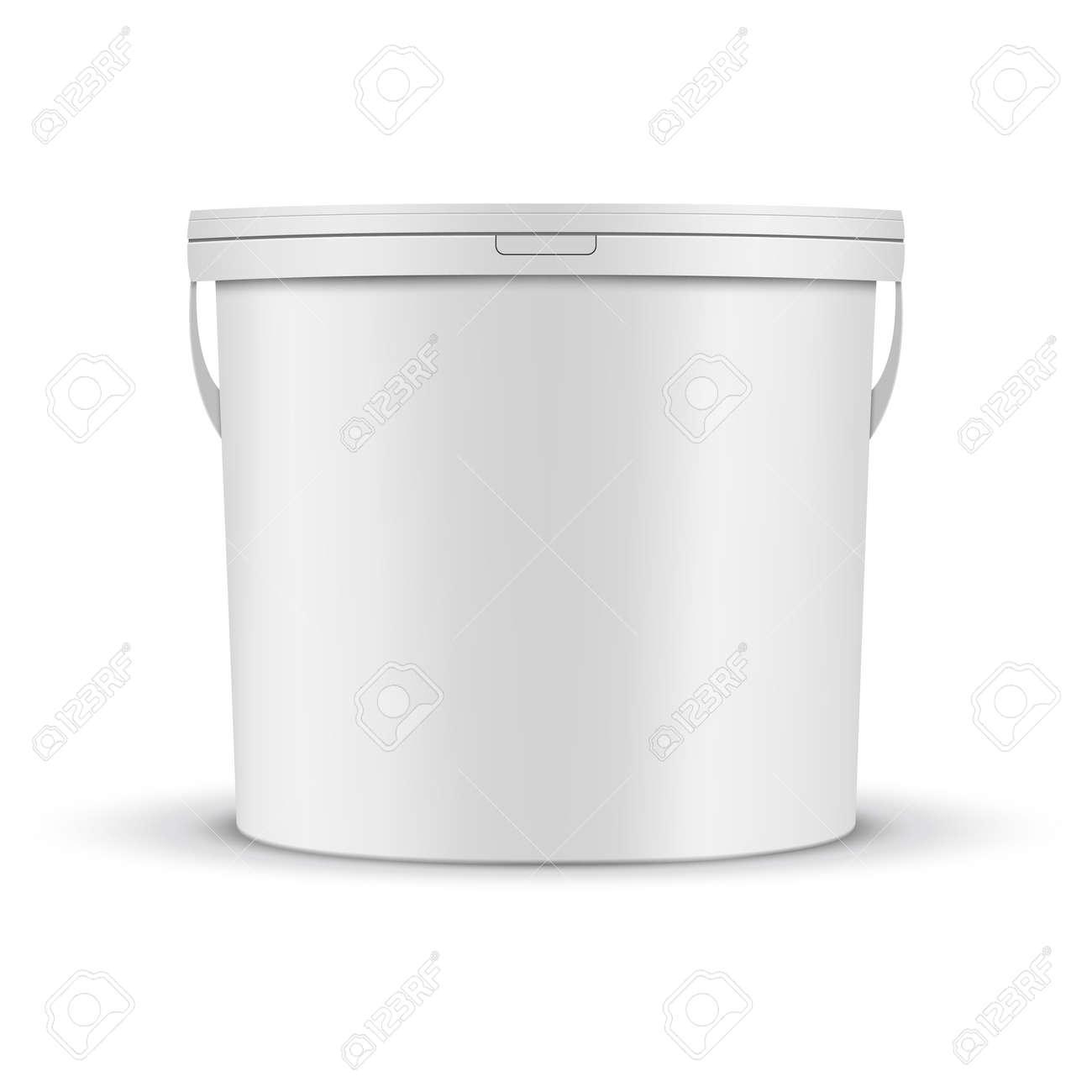 White Paint Bucket Mockup - 130027182