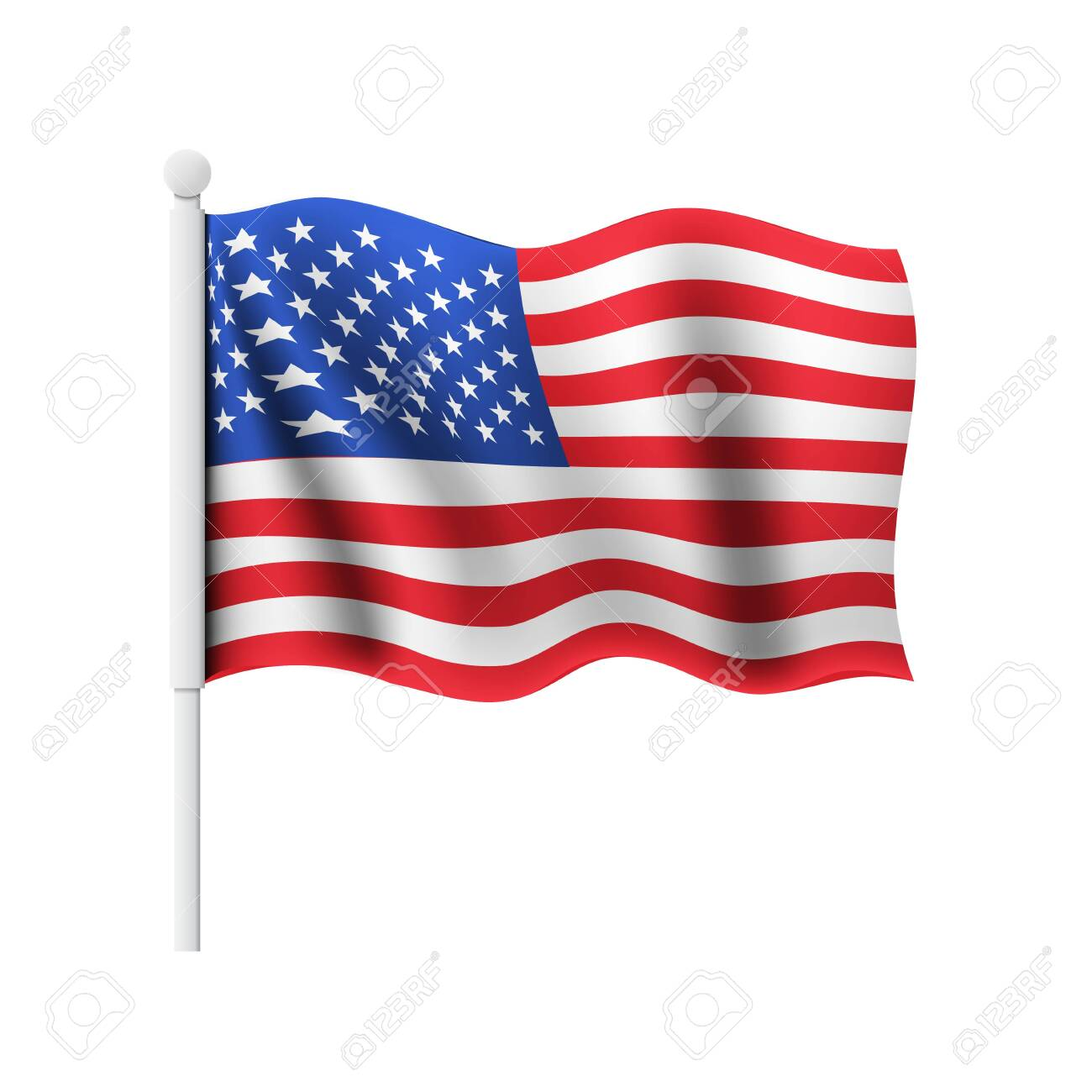 Waving flag of the United States of America - 144984376