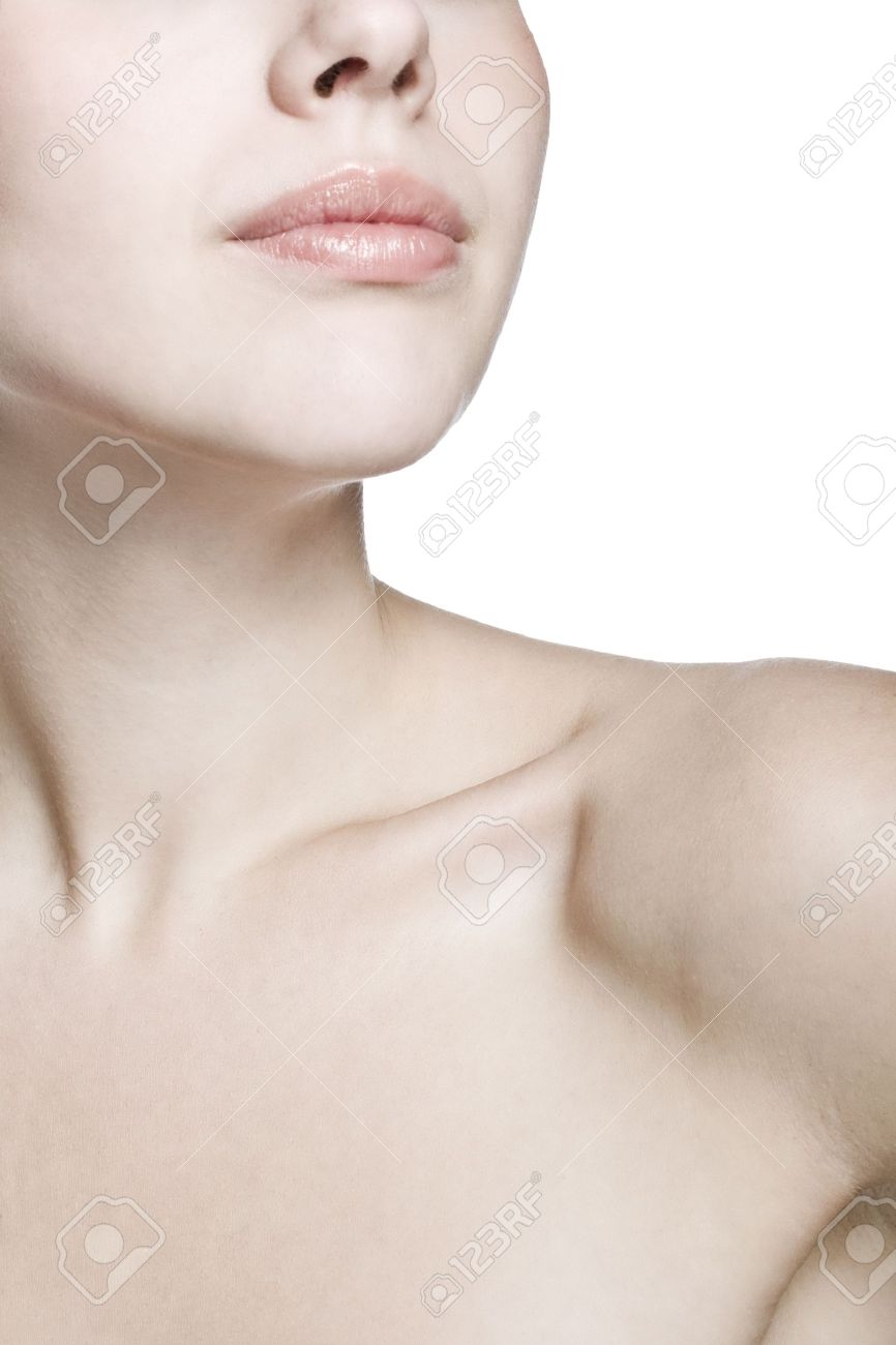closeup shot of neck and shoulder of a beautiful girl Stock Photo - 5831308