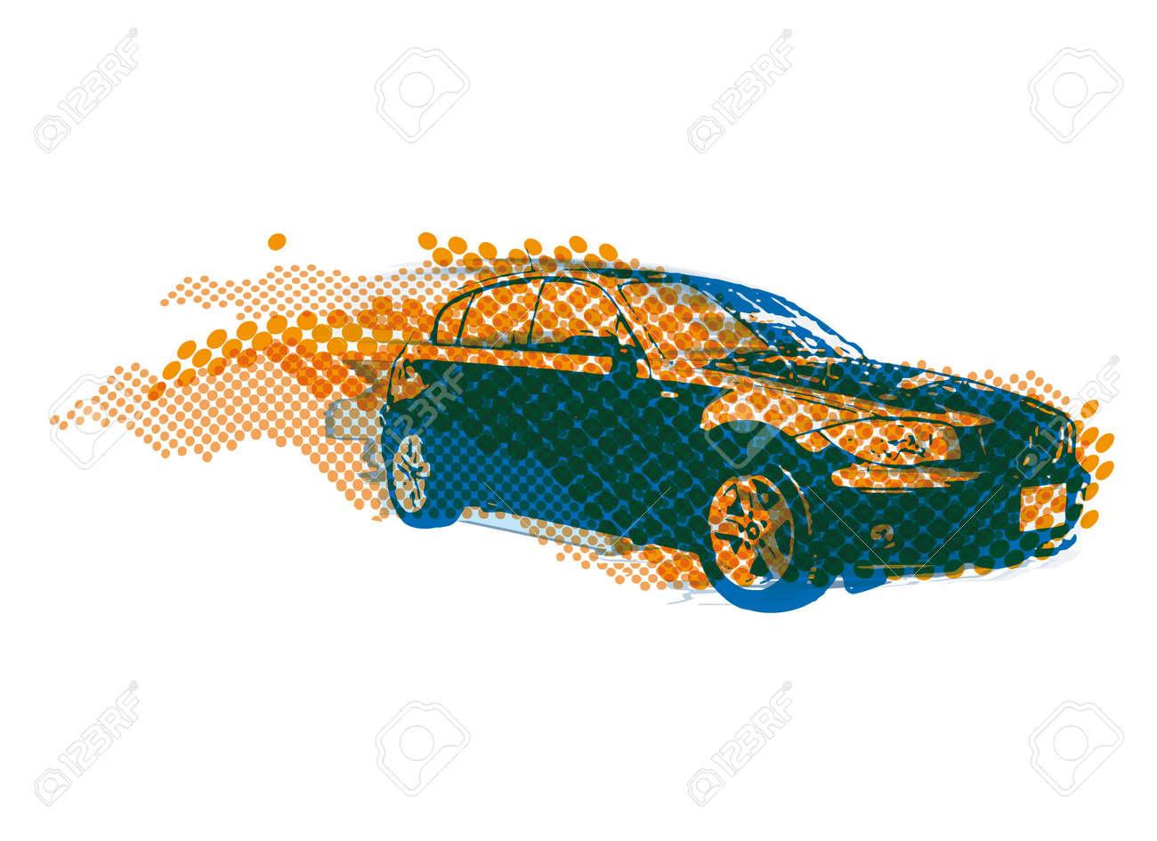 fast car Stock Vector - 10545941
