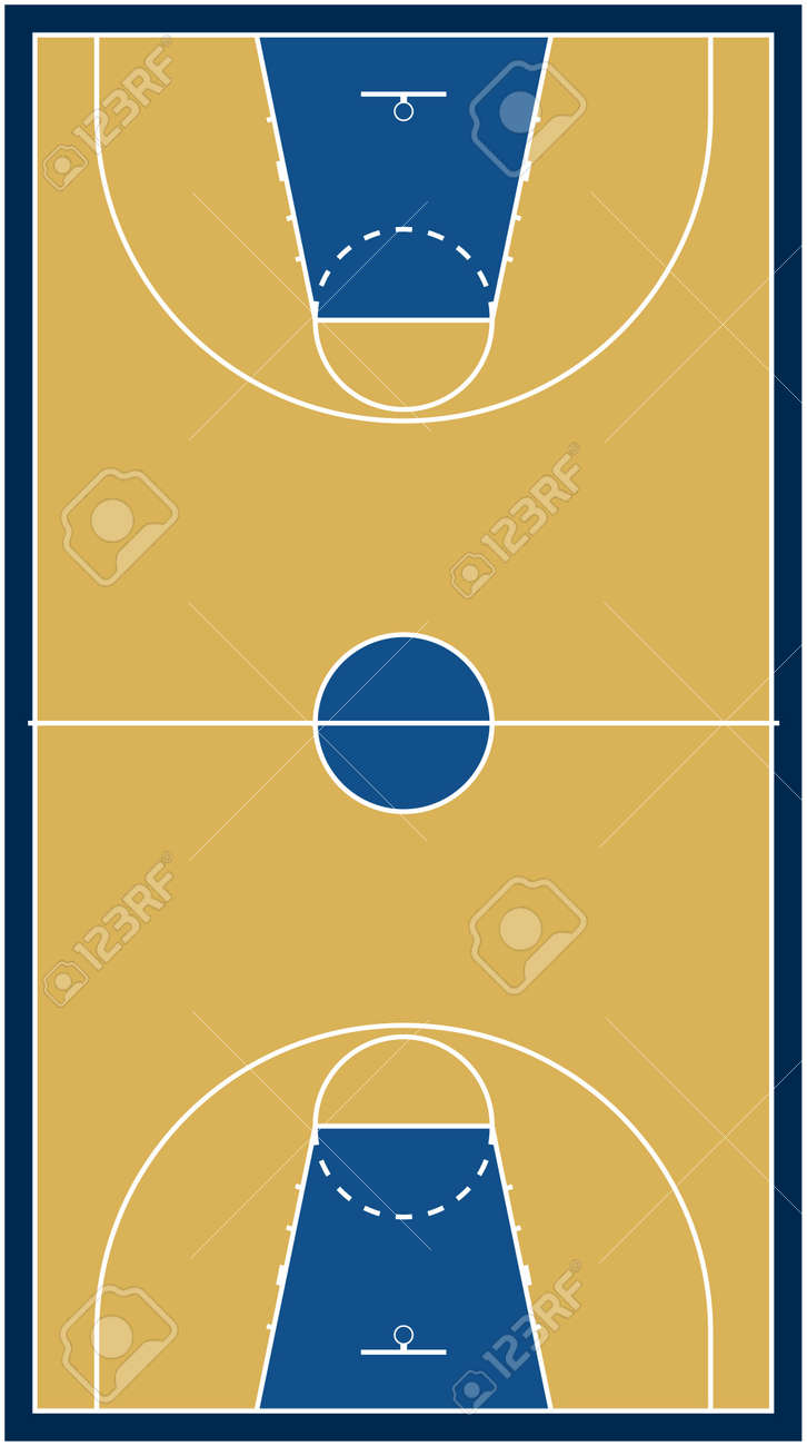 Basketball court Stock Vector - 10563150