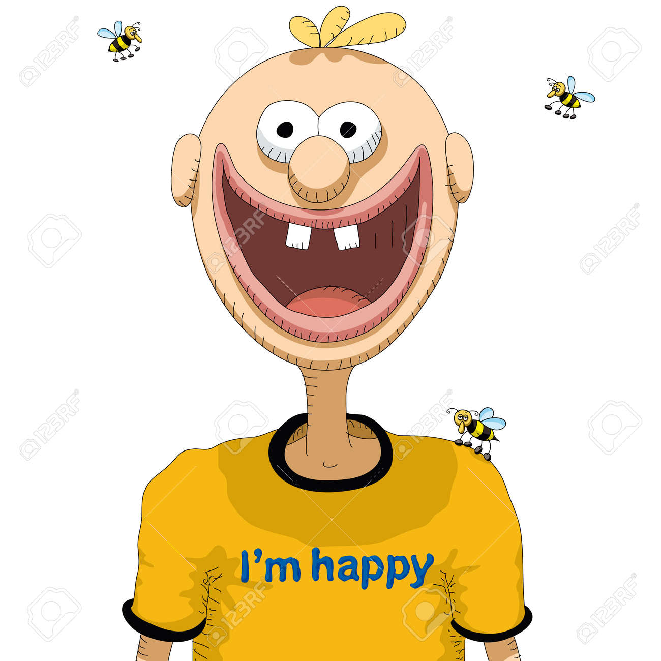 happy person royalty free cliparts vectors and stock illustration rh 123rf com happy person face cartoon happy person face cartoon