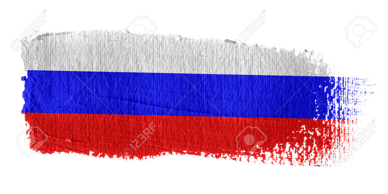 Brushstroke Flag Russia Stock Photo - 10570314