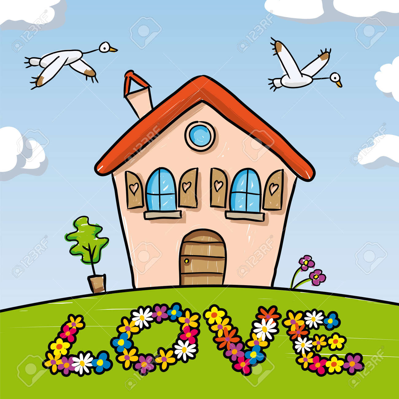 Dream Home Stock Vector - 10590185