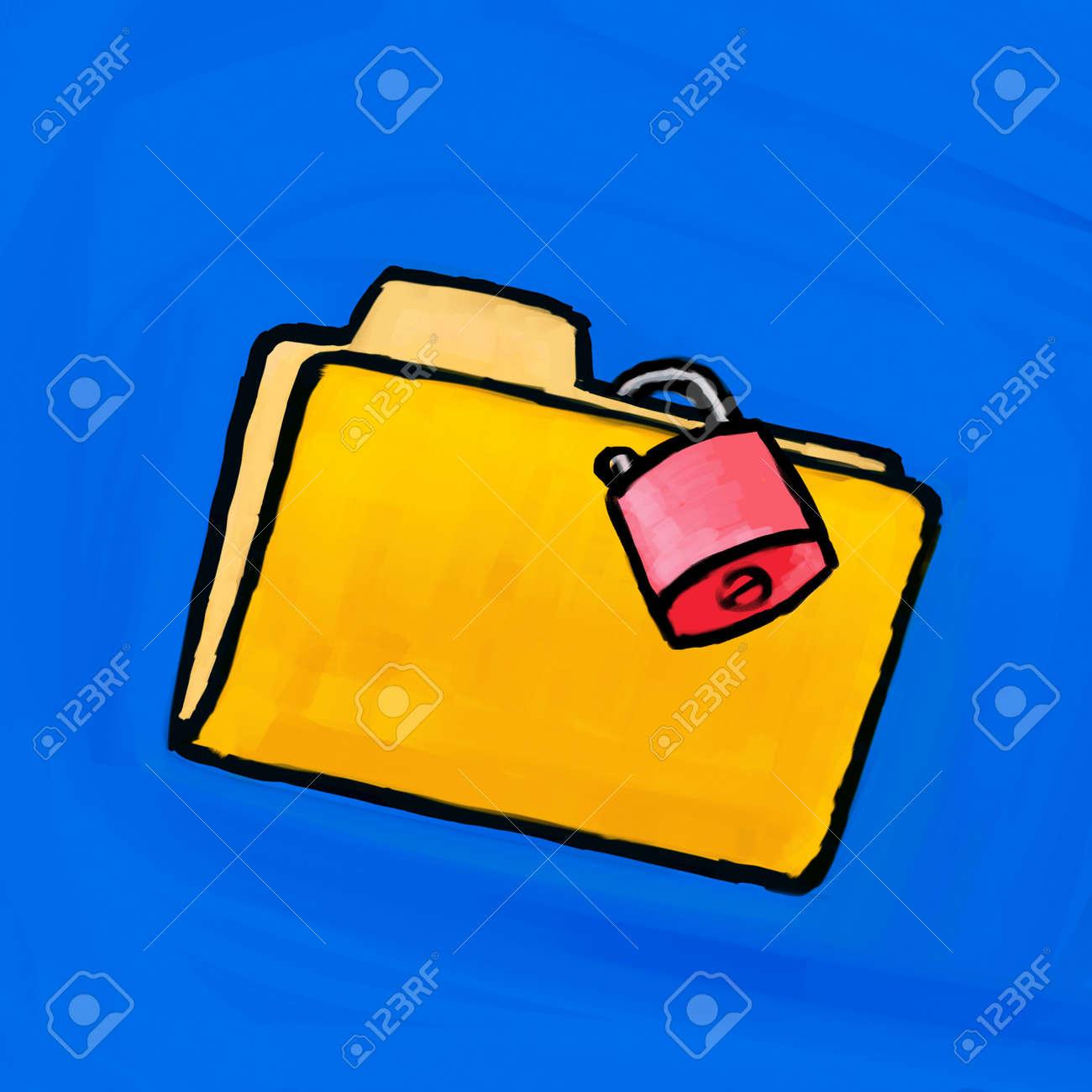 Painting folder lock Stock Photo - 10654071