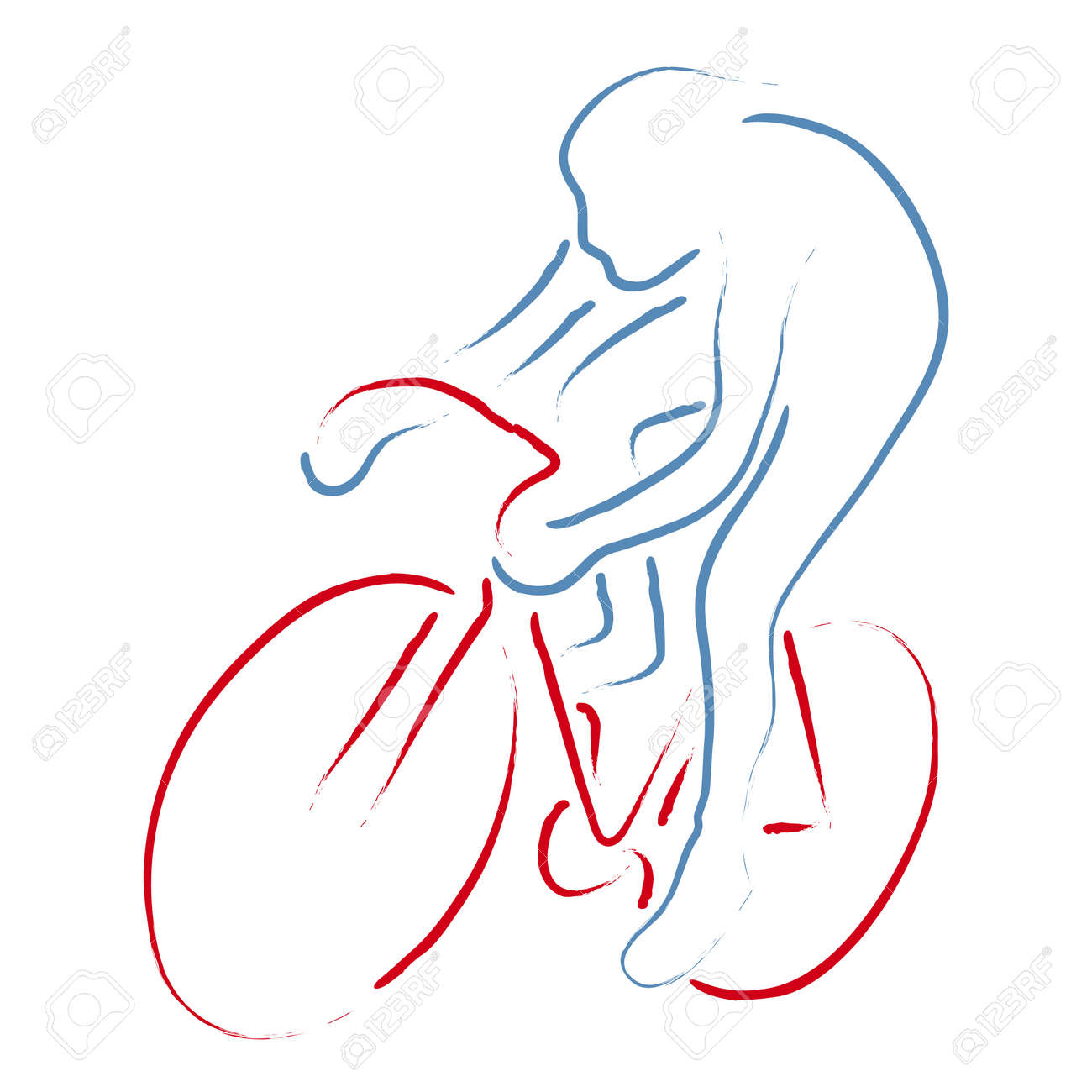 cyclist Stock Vector - 10590572