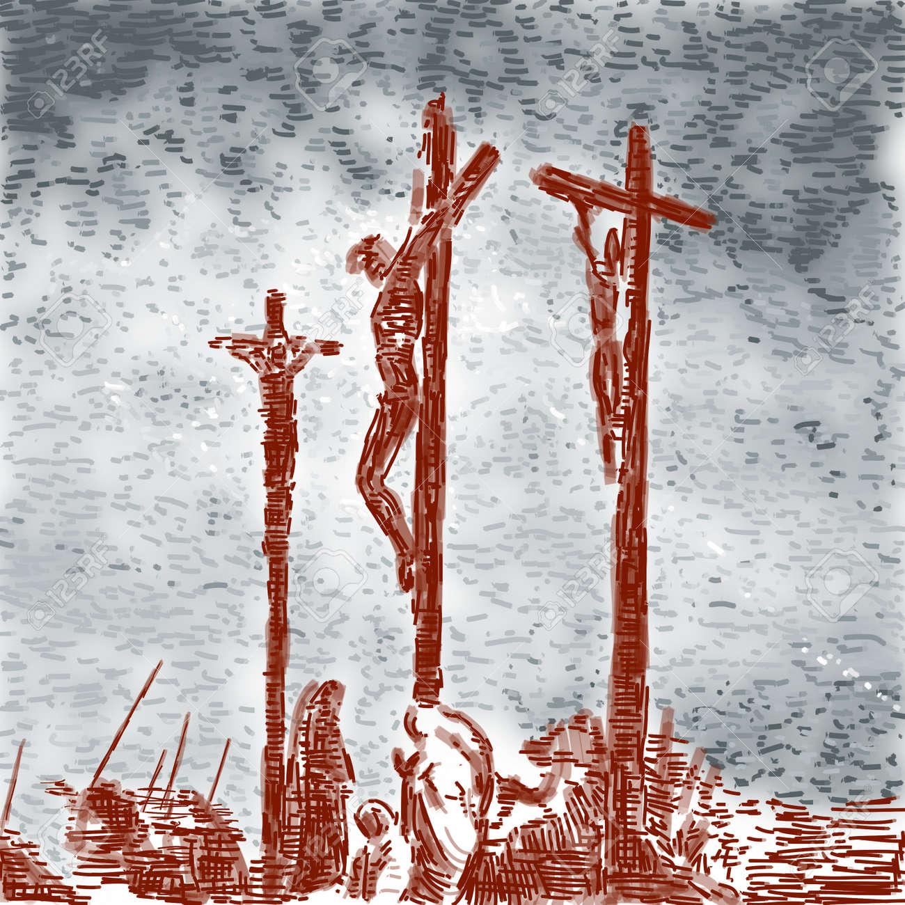 Crucifixión Foto de archivo - 10590612
