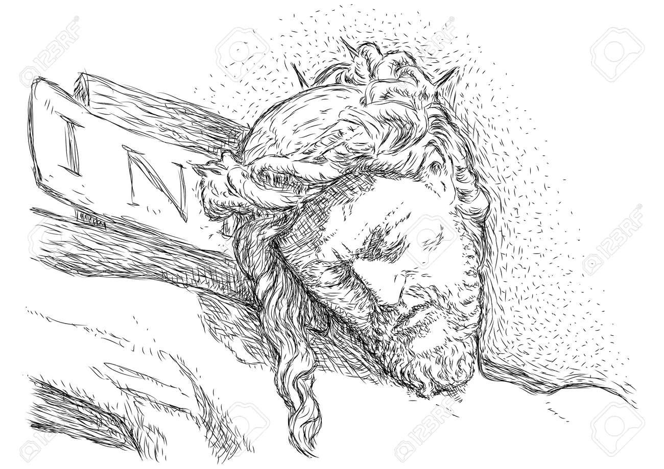 Jesus crucified Stock Vector - 10590352