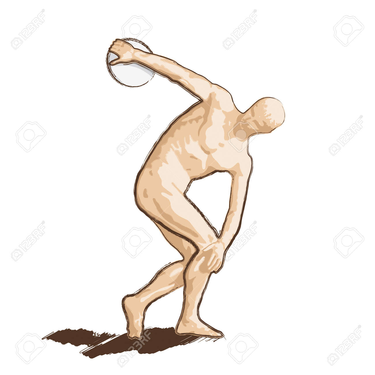discus thrower Stock Vector - 10590353