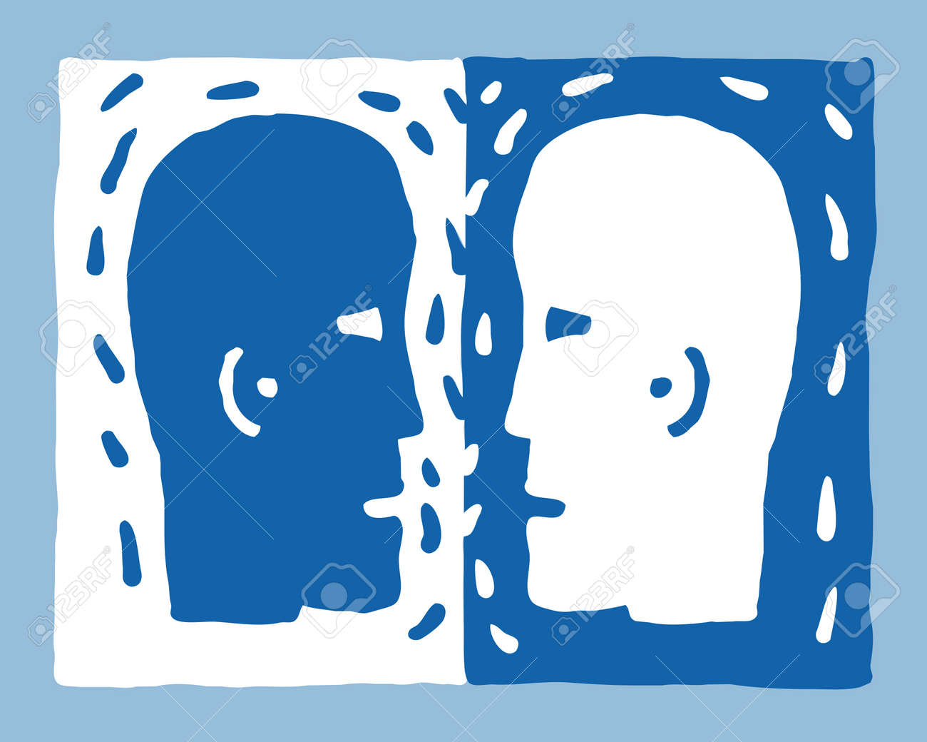 two heads Stock Vector - 10590410