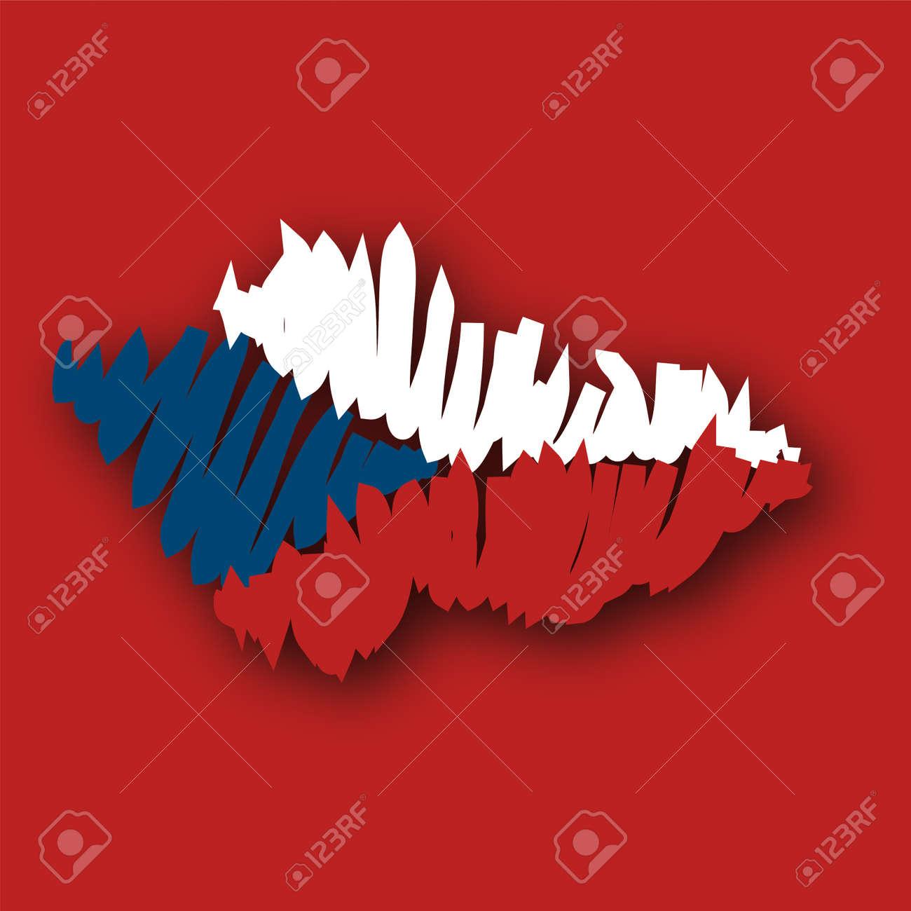 Map Flag Czech Republic Stock Photo